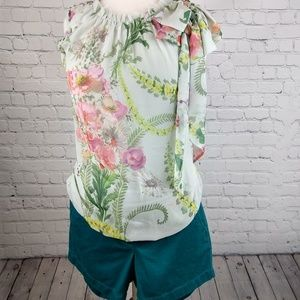 Ted Baker silk floral blouse XS 1